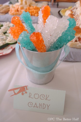 Rock Candy and Vintage Biplane Baby Shower Ideas - OPC The Better Half