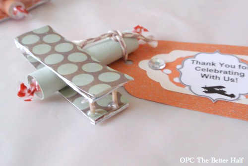 Biplane Party Favors and other Vintage Biplane Baby Shower Ideas - OPC The Better Half