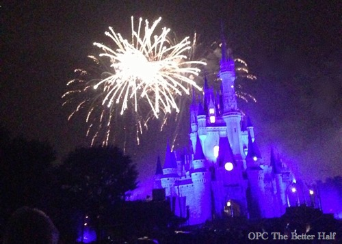 Fireworks in Magic Kingdom - OPC The Better Half