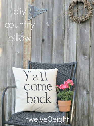 diy outdoor yall country pillow