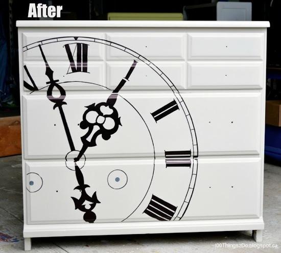 Clock dresser after