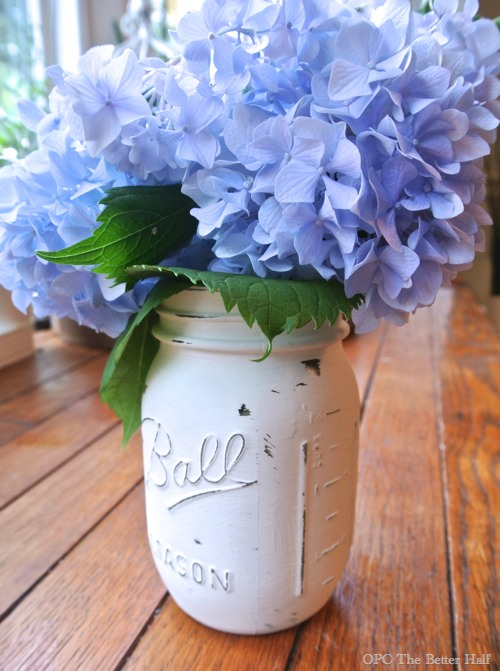 ASCP Painted Mason Jar with flowers from OPC The Better Half