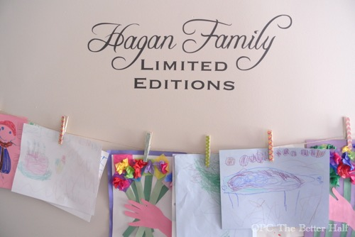 Kid's Art Display: Limited Editions - from OPC The Better Half