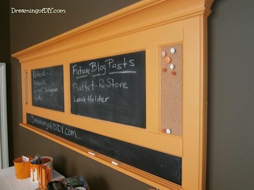 Headboard turned chalkboard