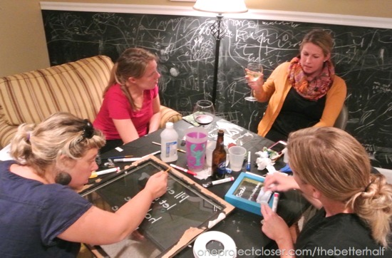 Glass Painting Craft Night - One Project Closer