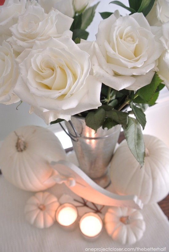 Flowers and Pumpkins from One Project Closer
