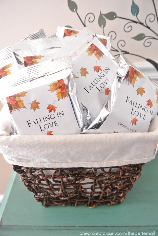 falling in love party favors one project closer