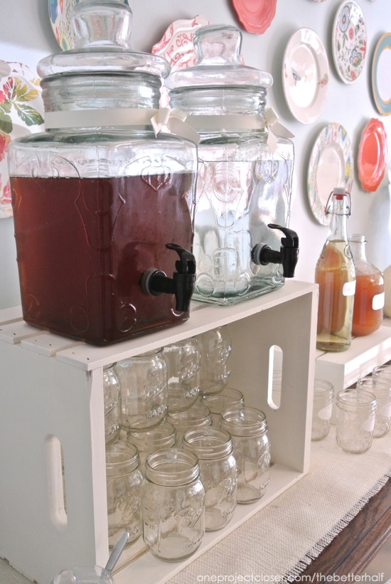 Water and Tea Drink Dispensers from Fall Party from One Project Closer