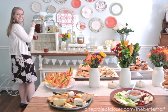 fall bridal shower ideas one project closer