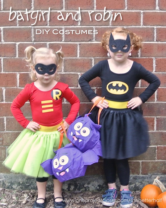 DIY Batgirl and Robin girl costumes - One Project Closer & DIY Batgirl and Robin Girl Costumes! - One Project Closer