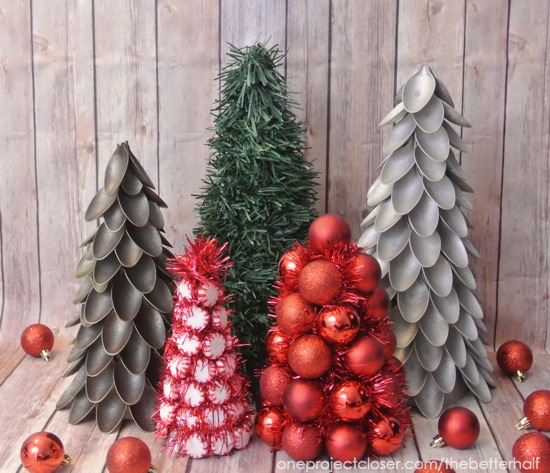 Dollar Store Christmas Trees - One Project Closer
