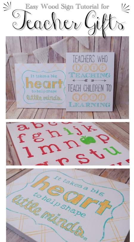 Homemade Teacher Gifts Easy Wood Sign Tutorial One