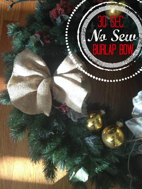 burlap bow