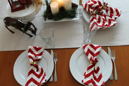 DIY Napkin Rings and Napkins from One Project Closer