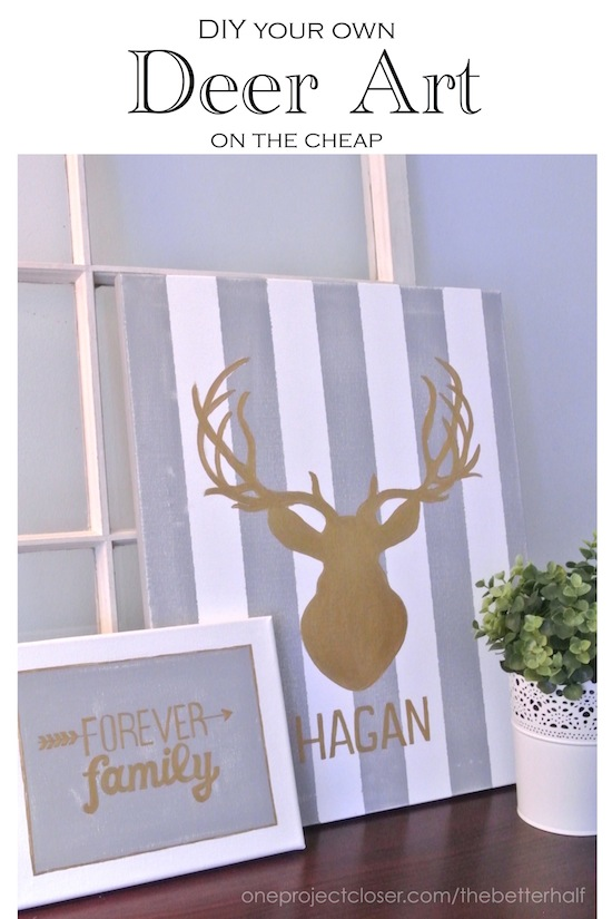 DIY deer art with One Project Closer