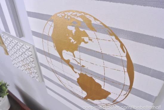 DIY Globe Canvas - One Project Closer