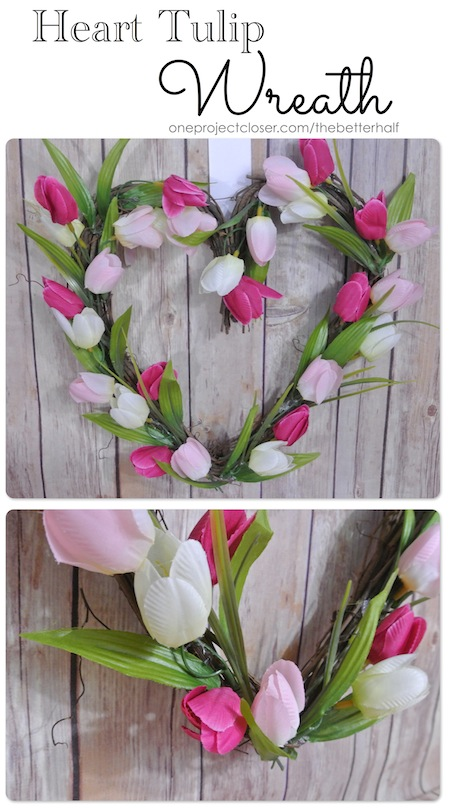 Heart Tulip Wreath from One Project Closer