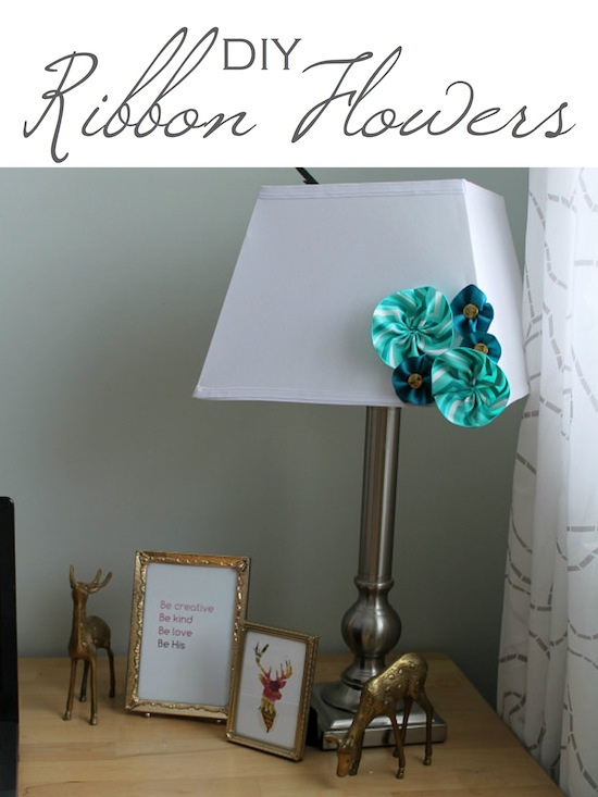 DIY RibbonFlowers at One Project Closer