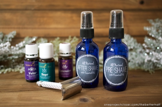 DIY Essential Oil Shave Set from One Project Closer
