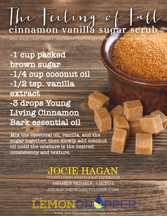 Cinnamon Vanilla Sugar Scrub with Young Living Essential Oils