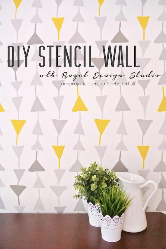 DIY-stencil-wall
