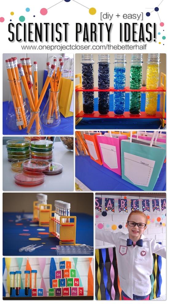 Fabulous Scientist Party Ideas - One Project Closer