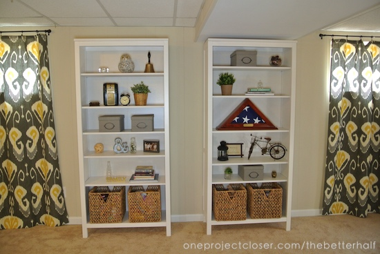 basement-makeover-book-cases-One-project-closer