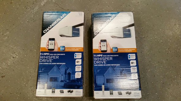 myq garage doorChamberlain 114 HP MyQ WiFi Garage Door Opener Review  One
