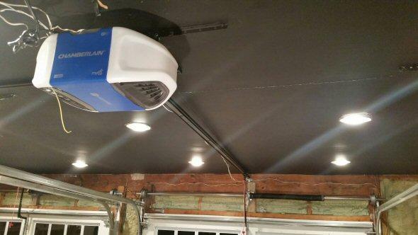 How To Set Garage Door Opener >> Chamberlain 1-1/4 HP MyQ WiFi Garage Door Opener Review ...