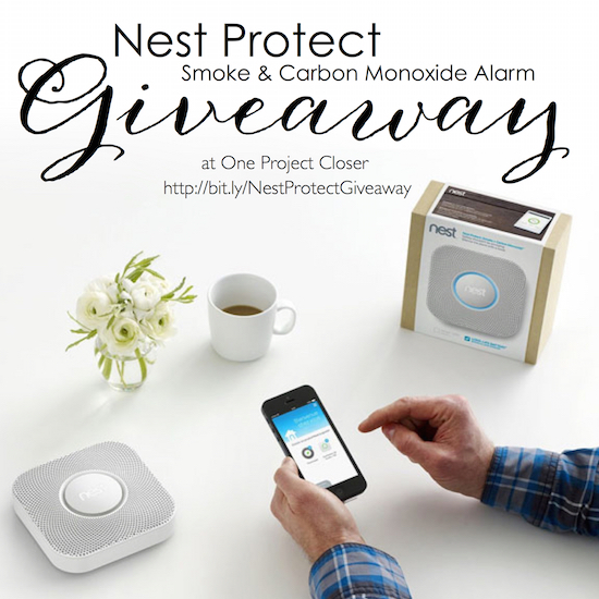 nest protect giveaway on One Project Closer