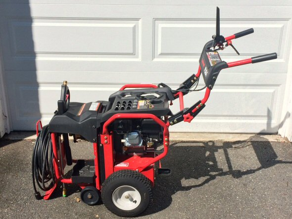 troy bilt flex with pressure washer attachment combined