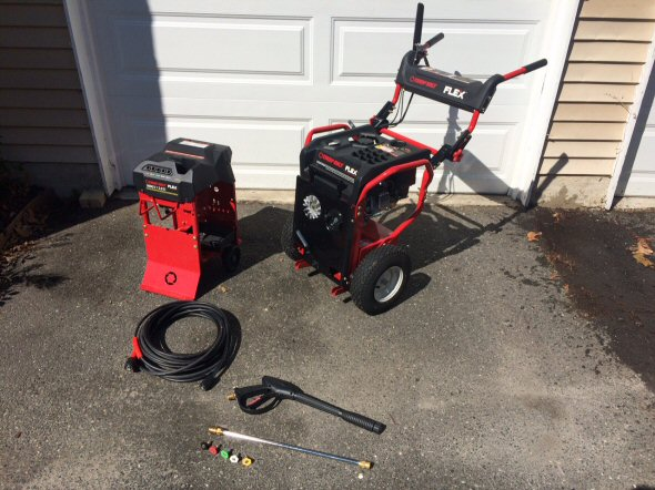 troy bilt flex with pressure washer attachment separated