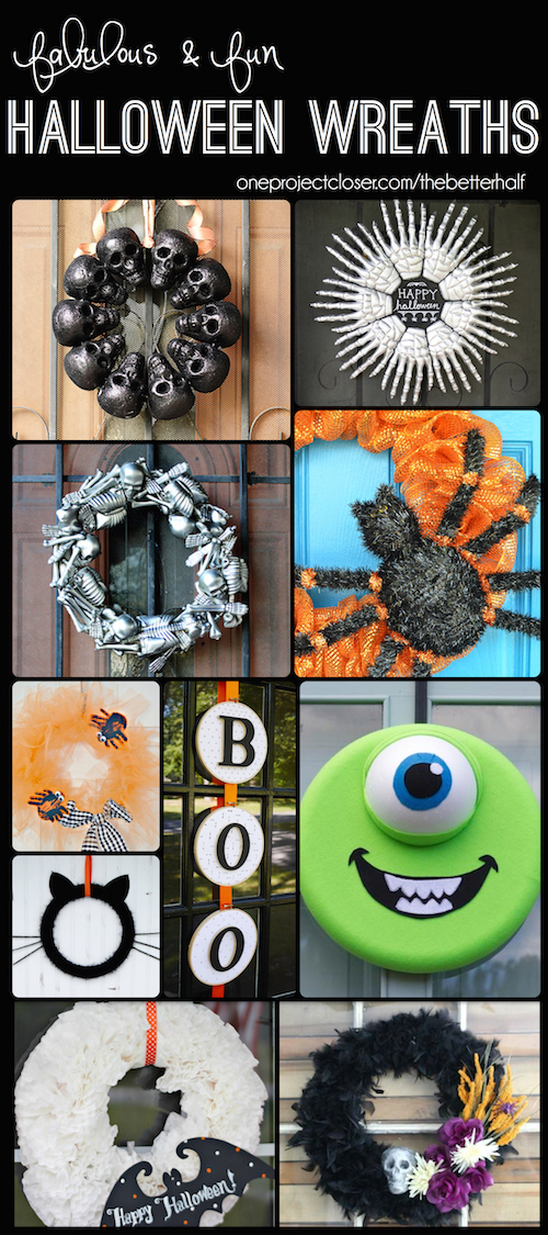 Lots of Great Halloween Wreaths with Tutorials!