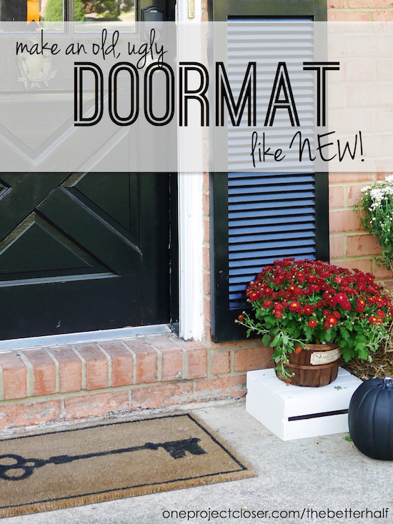 door mat makeover from One Project Closer