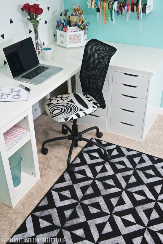 Painted-rug-DIY-and-craft-room-makeover-painted-carpet-One-project-closer