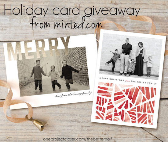 Minted.com holiday card giveaway