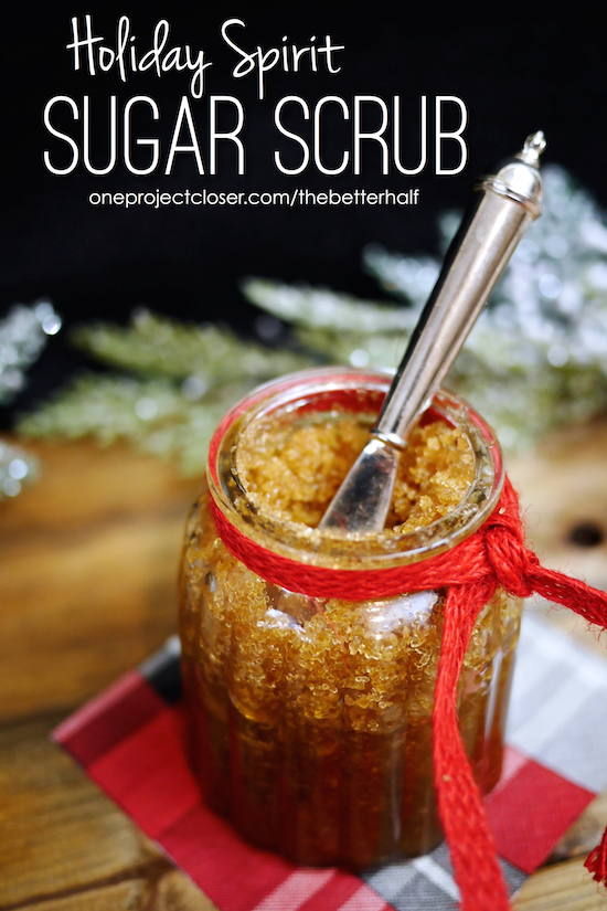 DIY Sugar Scrub with Essential Oils from One Project Closer