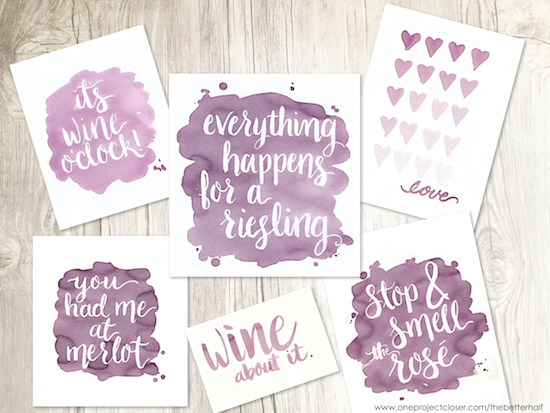 Paint With Wine from One Project Closer