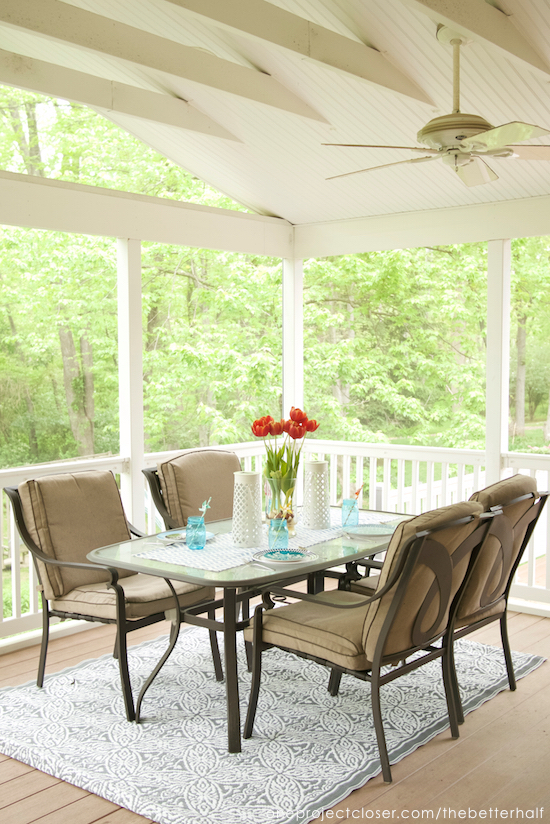Easy Porch Makeover on a Budget from One Project Closer