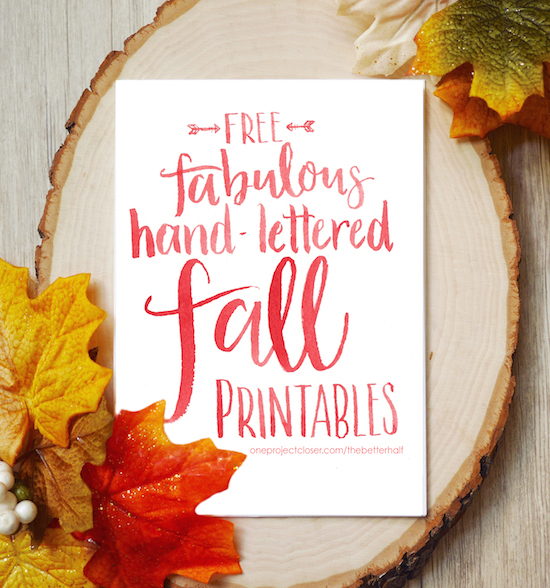 Free Fall Printable from One Project Closer