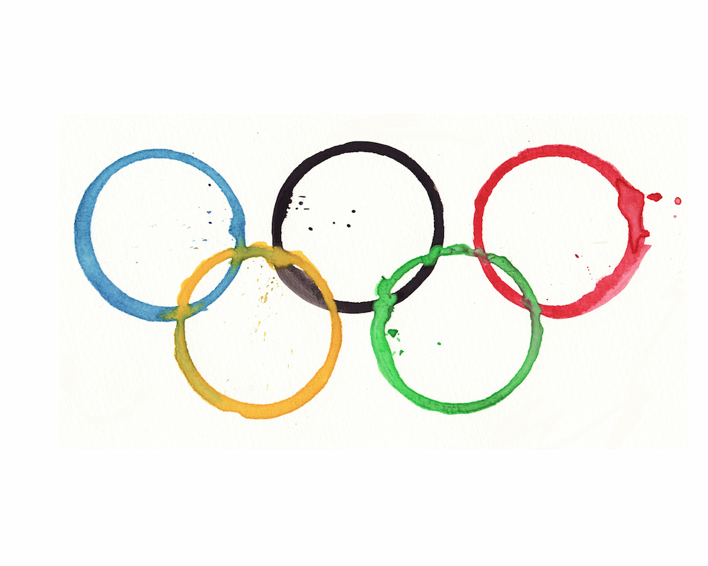 download watercolor olympic rings