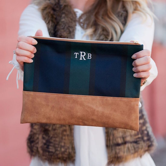 Plaid Zipper Pouch