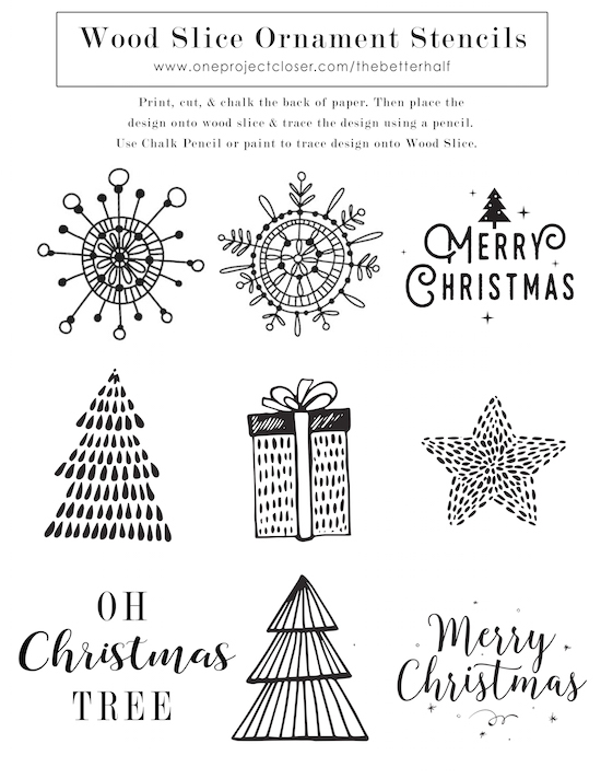 DIY-Scented-Wood-Slice-Ornament-Printable-Stencil-from-One-Project-Closer