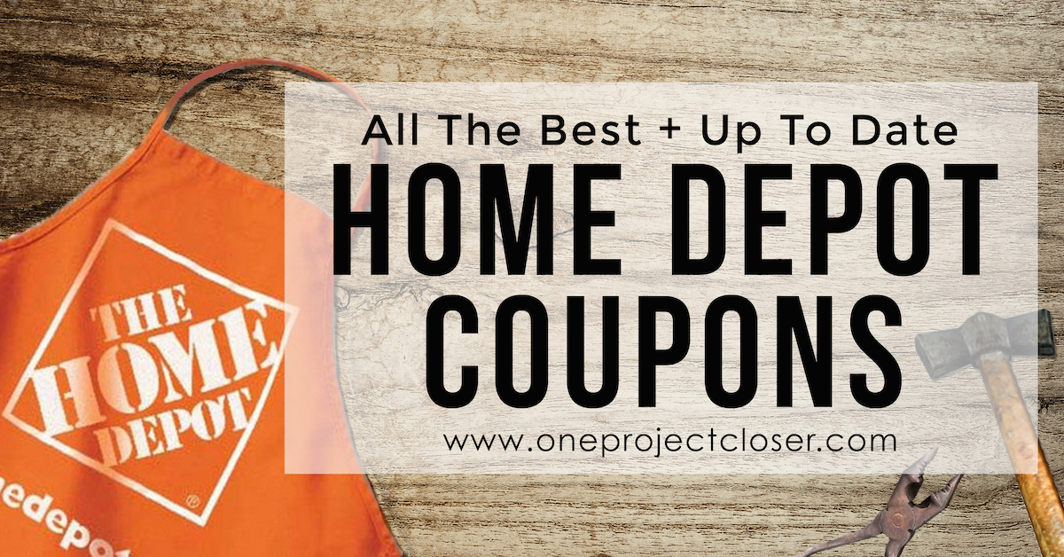 We Ve Aggregated Every Available Coupon For The Home Depot Don T See What You Need Pin This Page And Check Back In A Few Days Updates Their