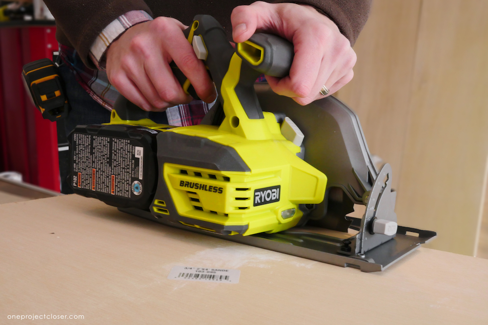 Ryobi p508 one 18 volt circular saw review one project closer i was pleased with how easily i was able to move through the material the motor did bog down when i really pushed it though greentooth Gallery