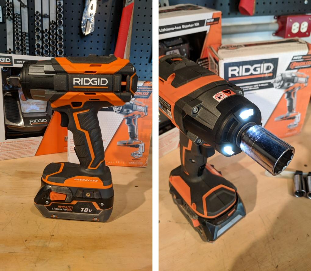 Using The Ridgid Impact Wrench