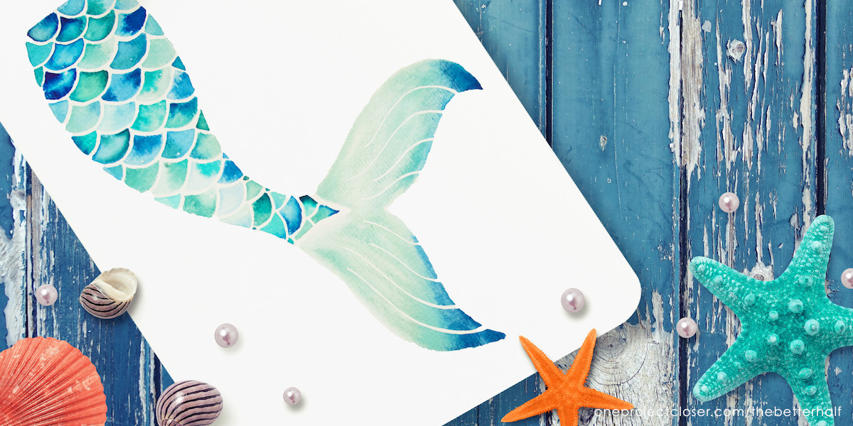 picture about Mermaid Tail Printable called How in direction of Paint a Watercolor Mermaid Tail + Printable - One particular