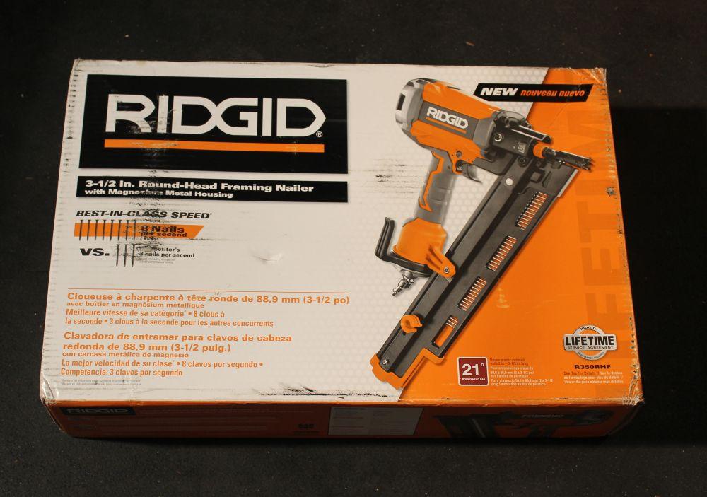 Ridgid 21 Degree 3 1 2 In Round Head Framing Nailer