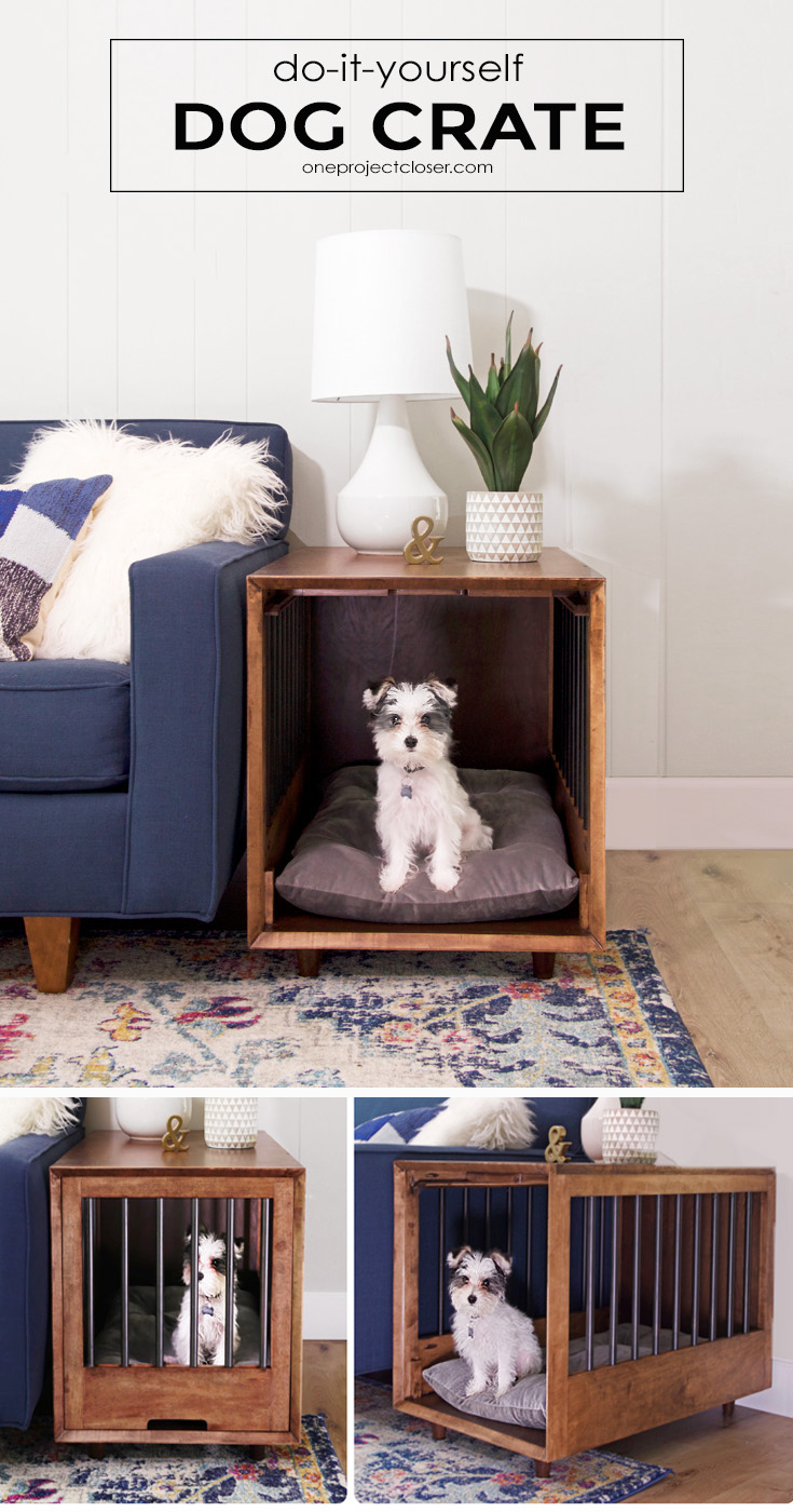 How To Build A Dog Crate That Doubles As An End Table Picture